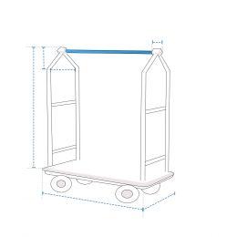 Custom Luggage Cart Cover - Design 3