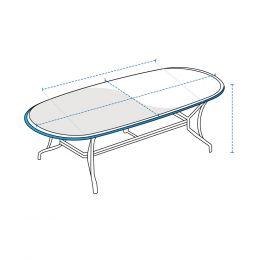 Custom Poker Table Cover - Oval
