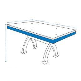 Custom Poker Table Cover - Square/Rectangle