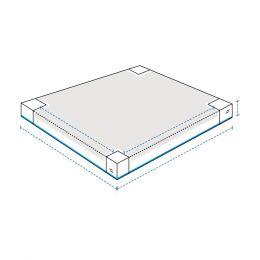 Heavy Duty Custom Sandbox Covers - With 4 Pole Cut-Out