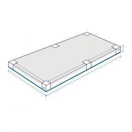 Heavy Duty Custom Sandbox Covers - With 6 Pole Cut-Out