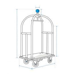 Custom Luggage Cart Cover - Design 1