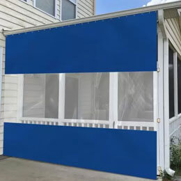 Curtain with Clear Vinyl Panel